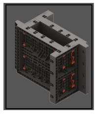 Una cassaforma in ABS per pilastri utilizzabile e modulare 1