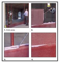 Sistema costruttivo a secco bloccato con collante poliuretanico 1