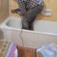 A Da vasca a doccia per anziana disabile. Fai da te