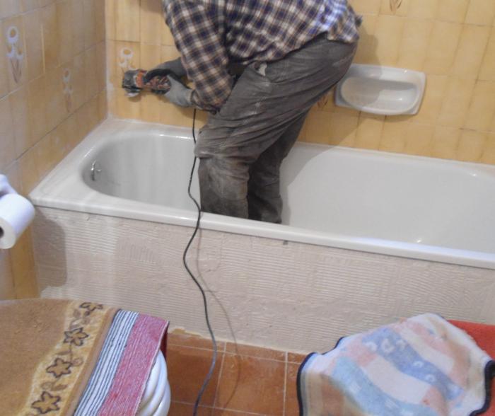 - Pulire vasca da bagno ...