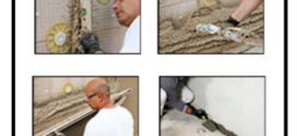 Intonacatura della componente a secco del cappotto termico tramite intonaco cementizio a prestazioni superiori