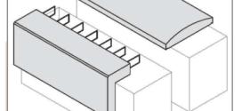Copertine in cemento per muri