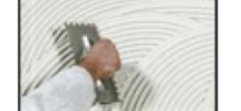 Un collante rasante di colore bianco idoneo per le coibentazioni interne