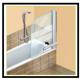 A Come mettere in opera una paratia di vetro o di altro materiale trasparente per avere una comoda vasca-doccia