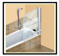 Come mettere in opera una paratia di vetro o di altro materiale trasparente per avere una comoda vasca-doccia 1
