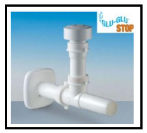 2 una valvola automatica di areazione in plastica contro i gorgoglii e i cattivi odori degli scarichi