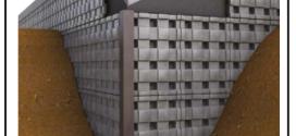 Un pannello in PP riciclato per la protezione dei muri controterra, che consente la creazione di una camera d'aria tra la muratura e il terreno di riporto