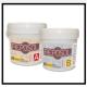 A Una resina epossidica fluida bicomponente addizionabile con segatura, sabbia ecc