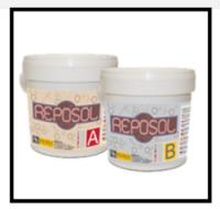 Una resina epossidica fluida bicomponente addizionabile con segatura, sabbia ecc 1