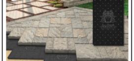 Un pannello ecologico per pavimenti in massetto in pietra e in ceramica che permette all'acqua di tornare verso il sottosuolo grazie a canali d'evacuazione integrati