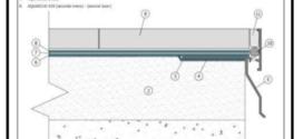 Un profilo gocciolatoio per la protezione perimetrale di terrazze e balconi piastrellati che favorisce il deflusso delle acque