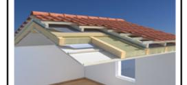 Un tetto ventilato e protetto da pannello isolante in lana di roccia DP10