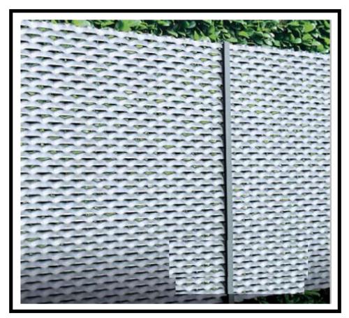 Reti stirate per recinzioni facili da montarsi e belle da for Recinzione economica fai da te