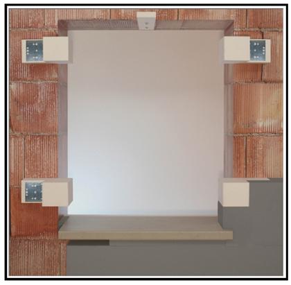 Montaggio cardini per finestre in un cappotto termico esterno for Finestre per esterni