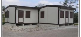 Un monoblocco modulare prefabbricato coibentato, per usi abitativi e altro
