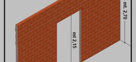 Costruire una parete interna in forati, compreso architravatura di una porta