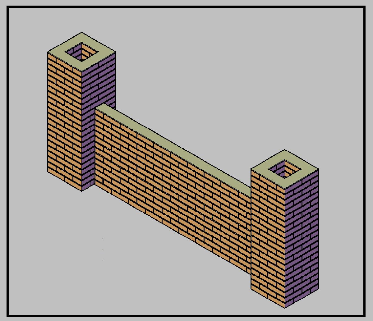 Mattoni Forati Per Recinzioni Giardino.Una Recinzione In Pilastri E Muretti In Mattoni A Faccia Vista