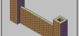 Una recinzione in pilastri e muretti in mattoni a faccia vista murati a malta cementizia