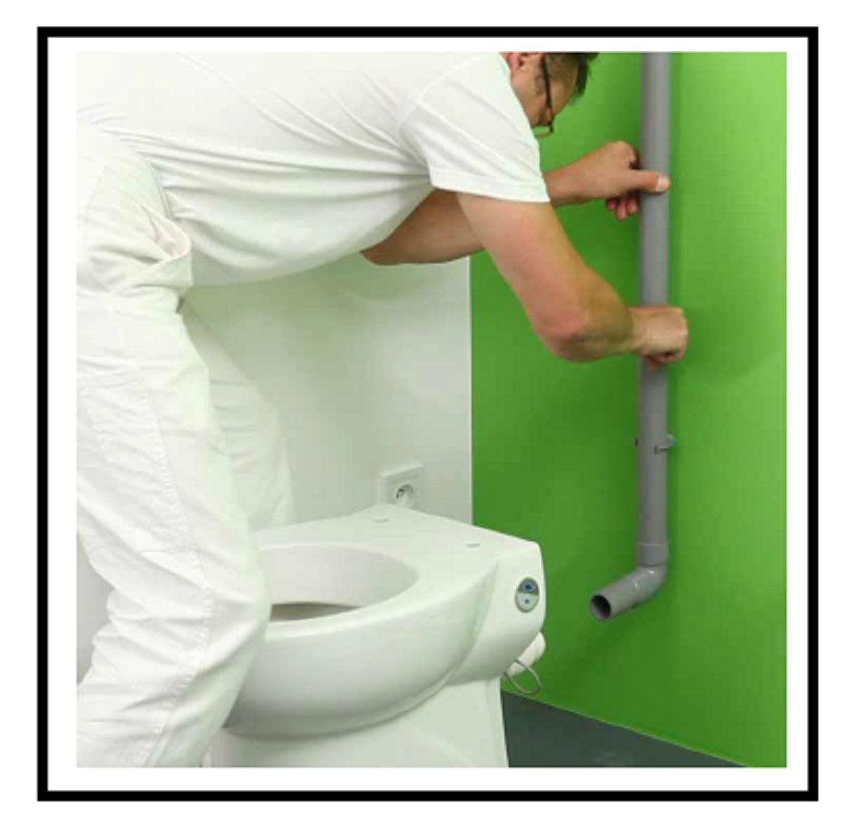 Tubi Per Scarico Bagno installazione di un moderno vaso wc trituratore con scarico