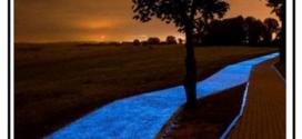Un asfalto auto illuminante  in grado di assorbire la luce del sole per restituirla nelle ore notturne