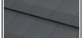 Una tegola leggera e maneggevole costituita da una lastra di acciaio da 0,75 mm, con la parte superiore costituita da (alluminio- zinco)