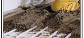 Realizzazione con idonei materiali di un massetto per impianto di riscaldamento a pavimento