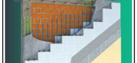 Un sistema costruttivo di Cappotto Termo Sismico costituito da due pannelli in EPS autoestinguente con distanziatori interni