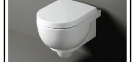 Vaso wc sospeso che rappresenta la soluzione a molti problemi tecnico sanitari
