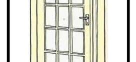 Come verniciare accuratamente vecchie porte di casa senza toglierle da posto